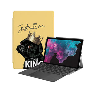 the Hero Image of Personalized Microsoft Surface Pro and Go Case with Dog Fun design