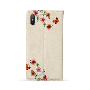 Back Side of Personalized Huawei Wallet Case with Birds design - swap