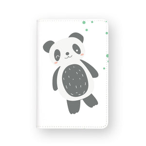 front view of personalized RFID blocking passport travel wallet with Cute Animals design