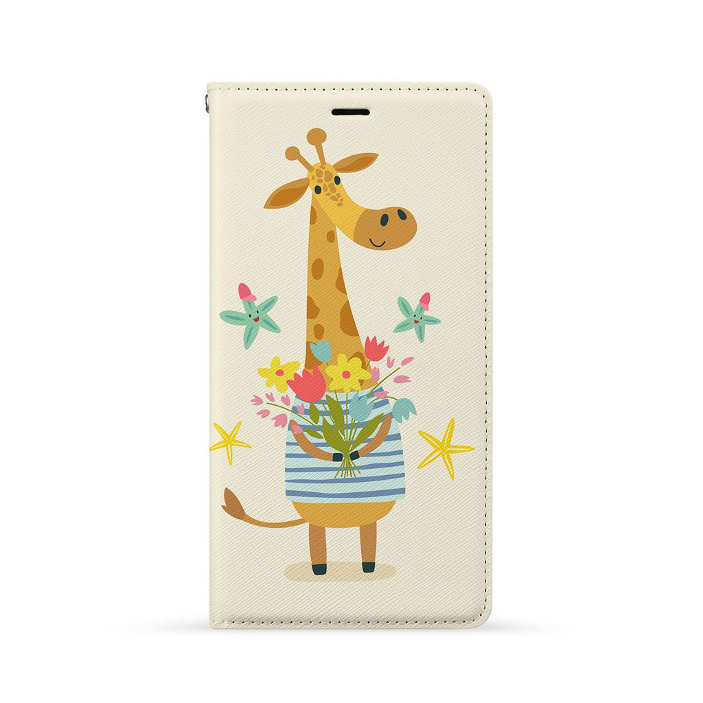 Front Side of Personalized Huawei Wallet Case with Cute Forest Friends design