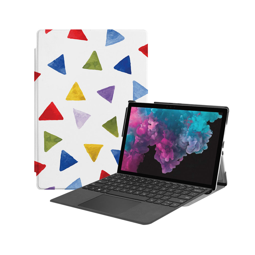 the Hero Image of Personalized Microsoft Surface Pro and Go Case with Geometry Pattern design