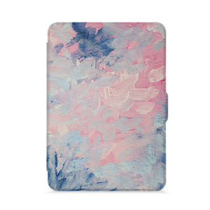 front view of personalized kindle paperwhite case with Oil Painting Abstract design - swap