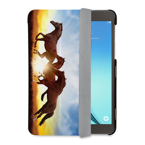 auto on off function of Personalized Samsung Galaxy Tab Case with Horse design - swap