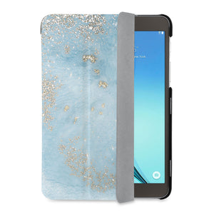auto on off function of Personalized Samsung Galaxy Tab Case with Marble Gold design - swap