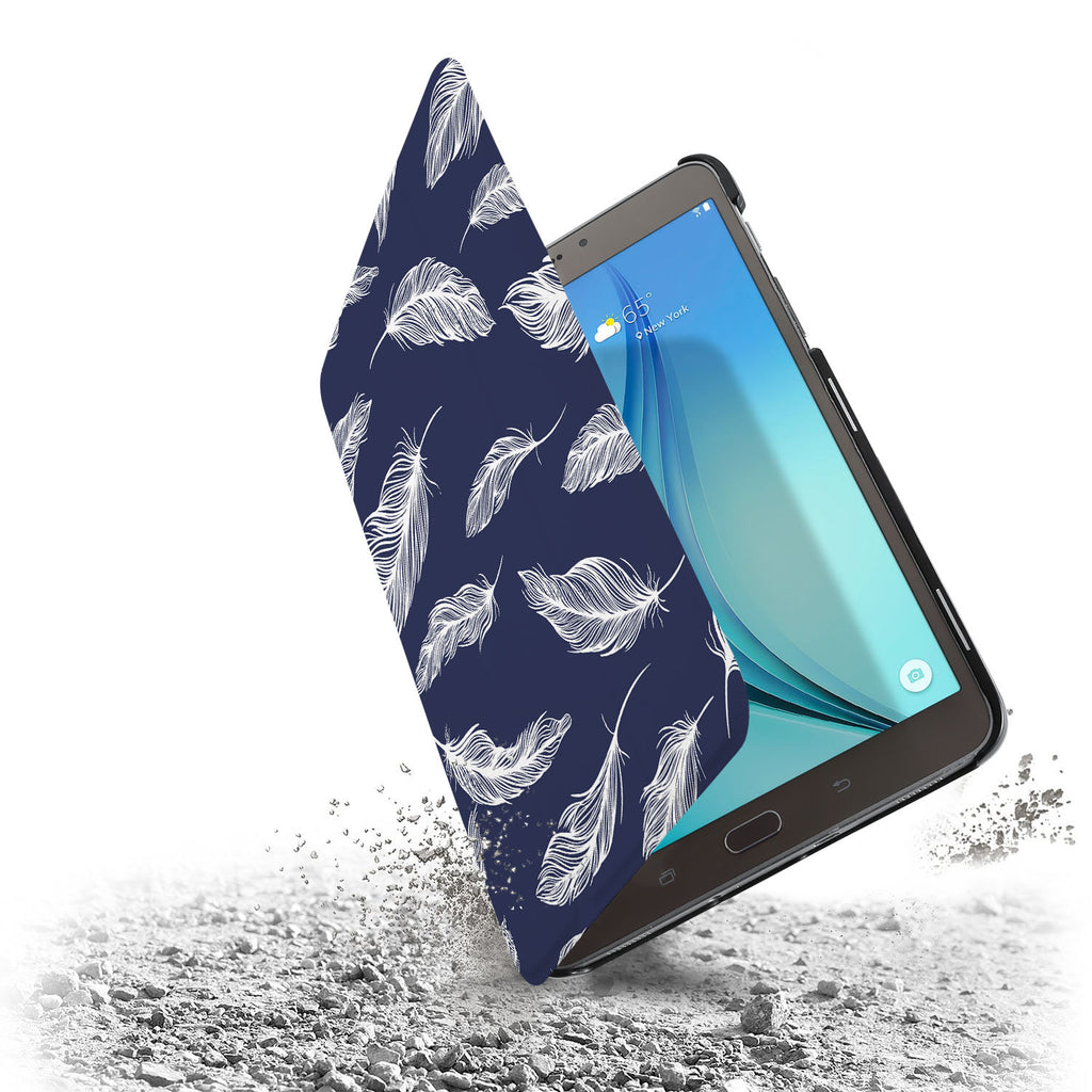 the drop protection feature of Personalized Samsung Galaxy Tab Case with Feather design