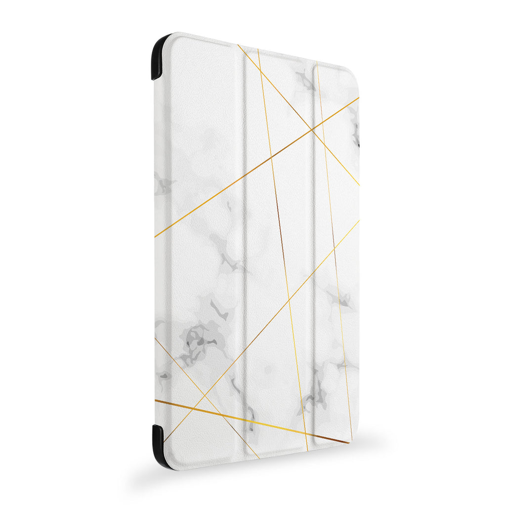 the side view of Personalized Samsung Galaxy Tab Case with Marble 2020 design