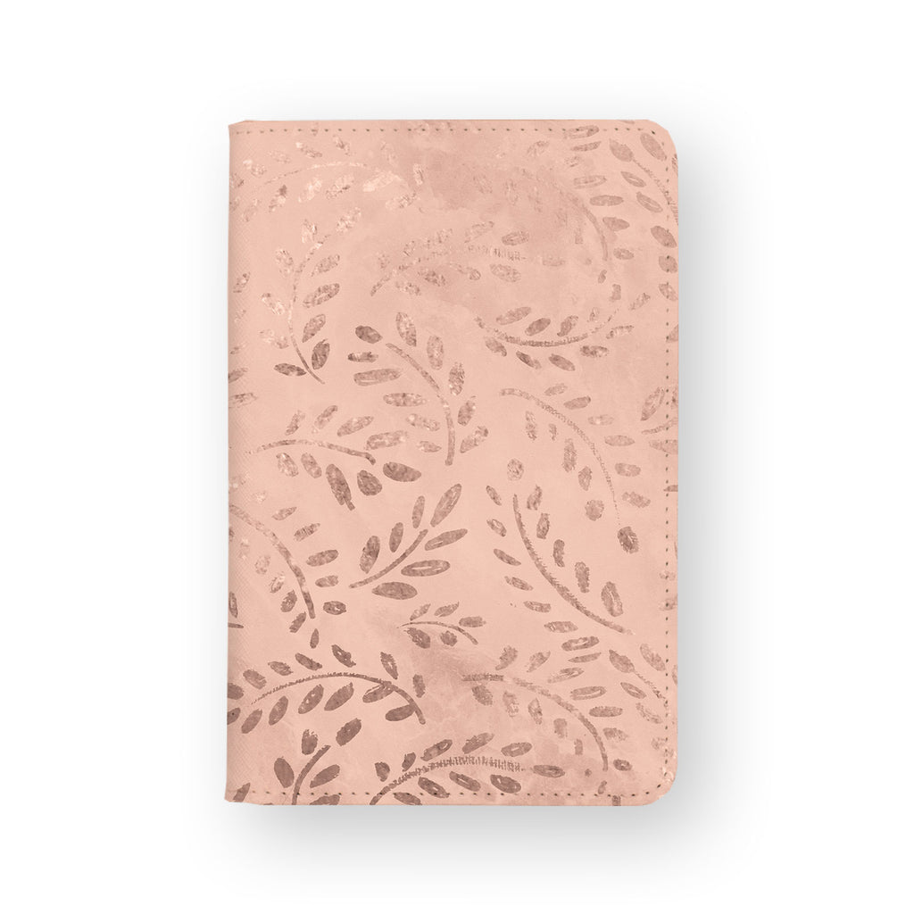 front view of personalized RFID blocking passport travel wallet with Magical Textured Pattern design