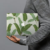 hardshell case with Green Leaves design combines a sleek hardshell design with vibrant colors for stylish protection against scratches, dents, and bumps for your Macbook