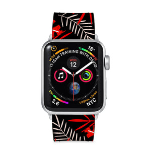 Our Printed Leather Apple Watch Band with Jungle design are made of water- and scratch-resistant saffiano leather because we know you wear your apple watch every, single, day. - swap