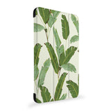 the side view of Personalized Samsung Galaxy Tab Case with Green Leaves design