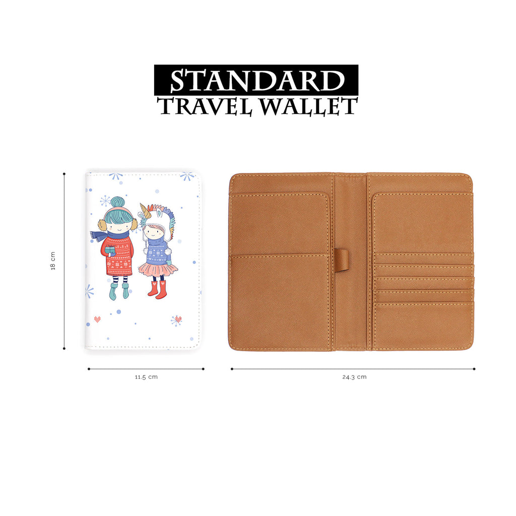 standard size of personalized RFID blocking passport travel wallet with My Best Friends design