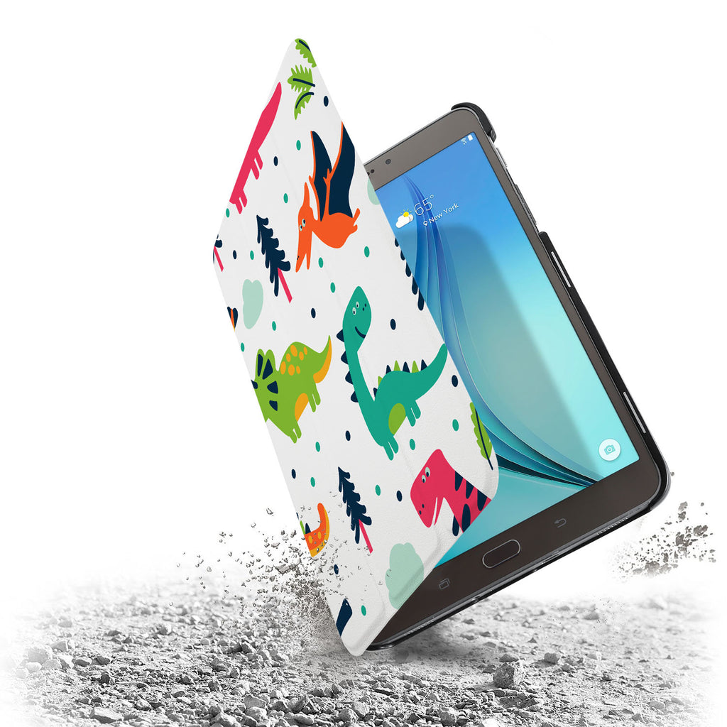 the drop protection feature of Personalized Samsung Galaxy Tab Case with Dinosaur design