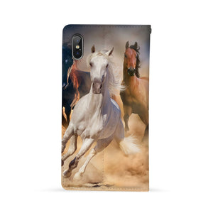 Back Side of Personalized Huawei Wallet Case with Horse design - swap