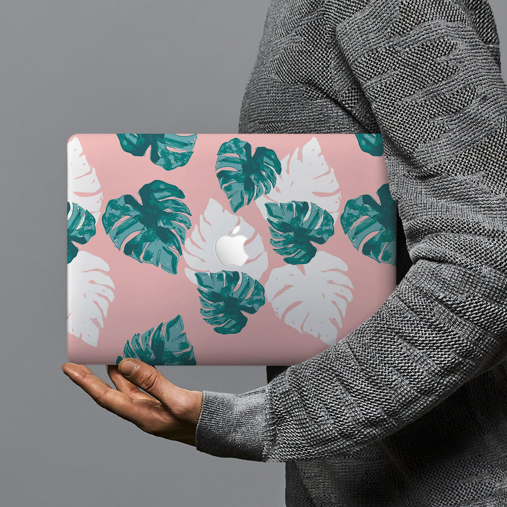 hardshell case with Pink Flower 2 design combines a sleek hardshell design with vibrant colors for stylish protection against scratches, dents, and bumps for your Macbook