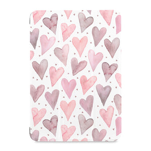 the front view of Personalized Samsung Galaxy Tab Case with Love design