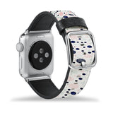 Printed Leather Apple Watch Band with Knitting design Like all Apple Watch bands, you can match this band with any Apple Watch case of the same size