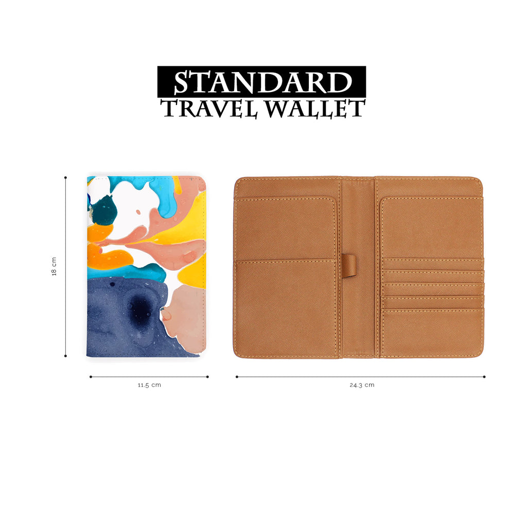 standard size of personalized RFID blocking passport travel wallet with Artistic Textures 1 design