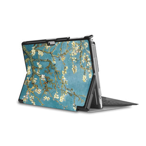 the back side of Personalized Microsoft Surface Pro and Go Case in Movie Stand View with Oil Painting design - swap