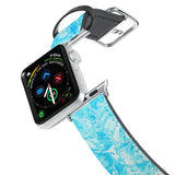 Printed Leather Apple Watch Band with Ice Pattern design. Designed for Apple Watch Series 4,Works with all previous versions of Apple Watch.