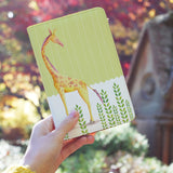 a girl holding personalized RFID blocking passport travel wallet with Cute Animal 2 design