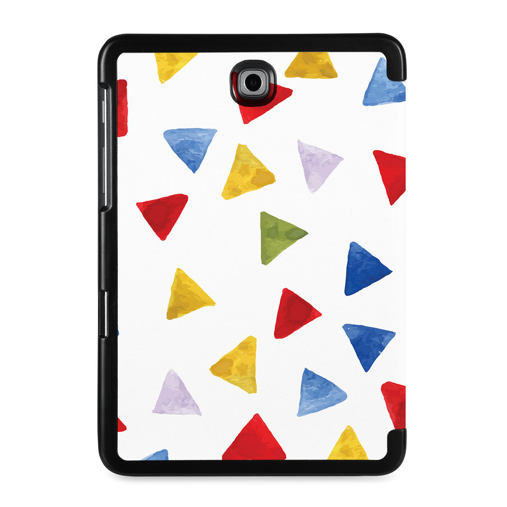 the back view of Personalized Samsung Galaxy Tab Case with Geometry Pattern design
