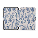 the whole front and back view of personalized kindle case paperwhite case with Flower design