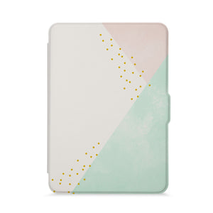 front view of personalized kindle paperwhite case with Simple Scandi Luxe design - swap
