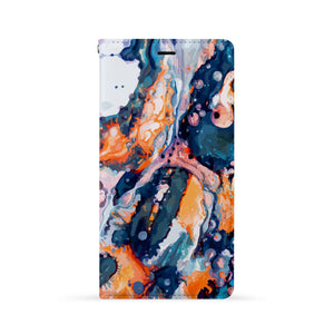 Front Side of Personalized iPhone Wallet Case with Art design