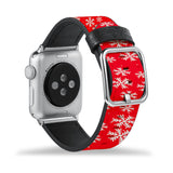 Printed Leather Apple Watch Band with Christmas 6 design Like all Apple Watch bands, you can match this band with any Apple Watch case of the same size
