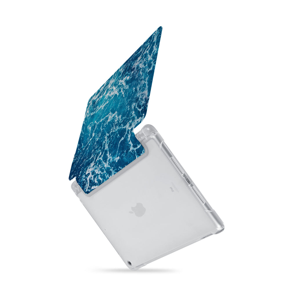 iPad SeeThru Casd with Ocean Design  Drop-tested by 3rd party labs to ensure 4-feet drop protection