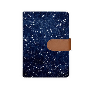 front view of personalized personal organiser with Galaxy Universe design