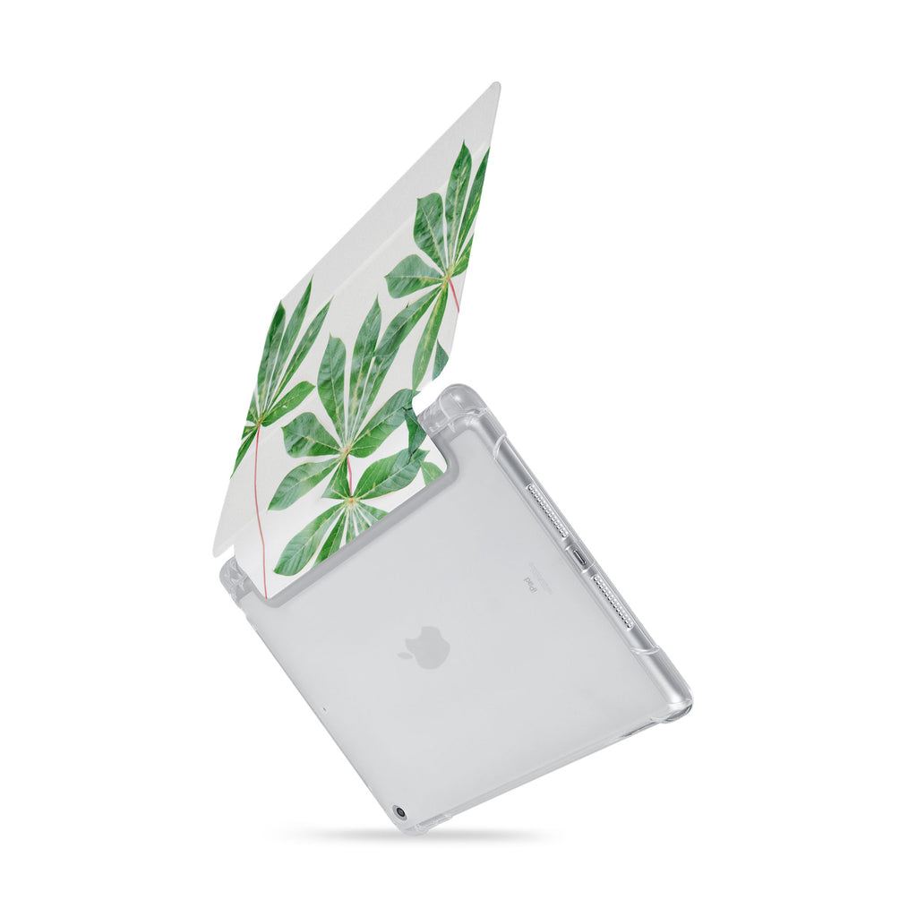 iPad SeeThru Casd with Flat Flower Design  Drop-tested by 3rd party labs to ensure 4-feet drop protection