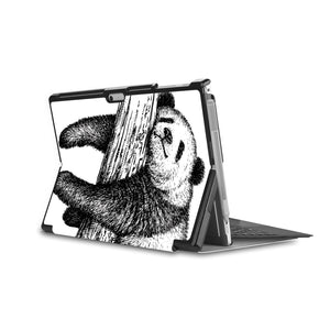 the back side of Personalized Microsoft Surface Pro and Go Case in Movie Stand View with Cute Animal design - swap