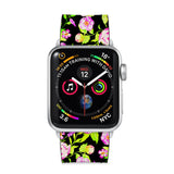 Our Printed Leather Apple Watch Band with Flower 2 design are made of water- and scratch-resistant saffiano leather because we know you wear your apple watch every, single, day. - swap
