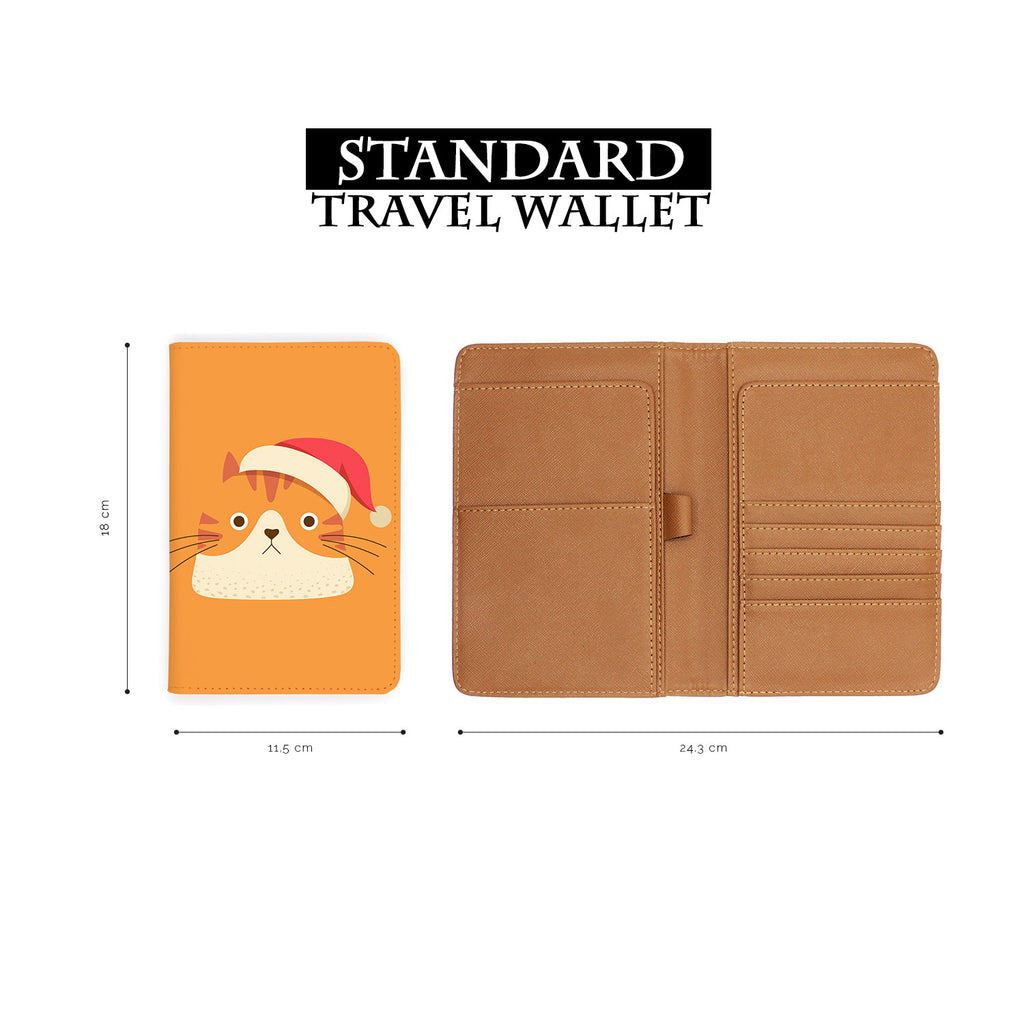 standard size of personalized RFID blocking passport travel wallet with Cute Cat design