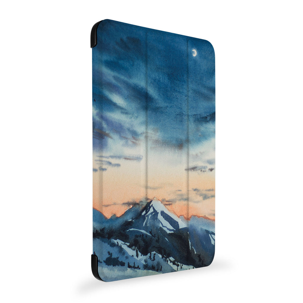 the side view of Personalized Samsung Galaxy Tab Case with Landscape design