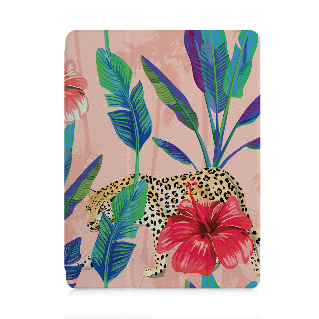front view of personalized iPad case with pencil holder and Stay Wild design