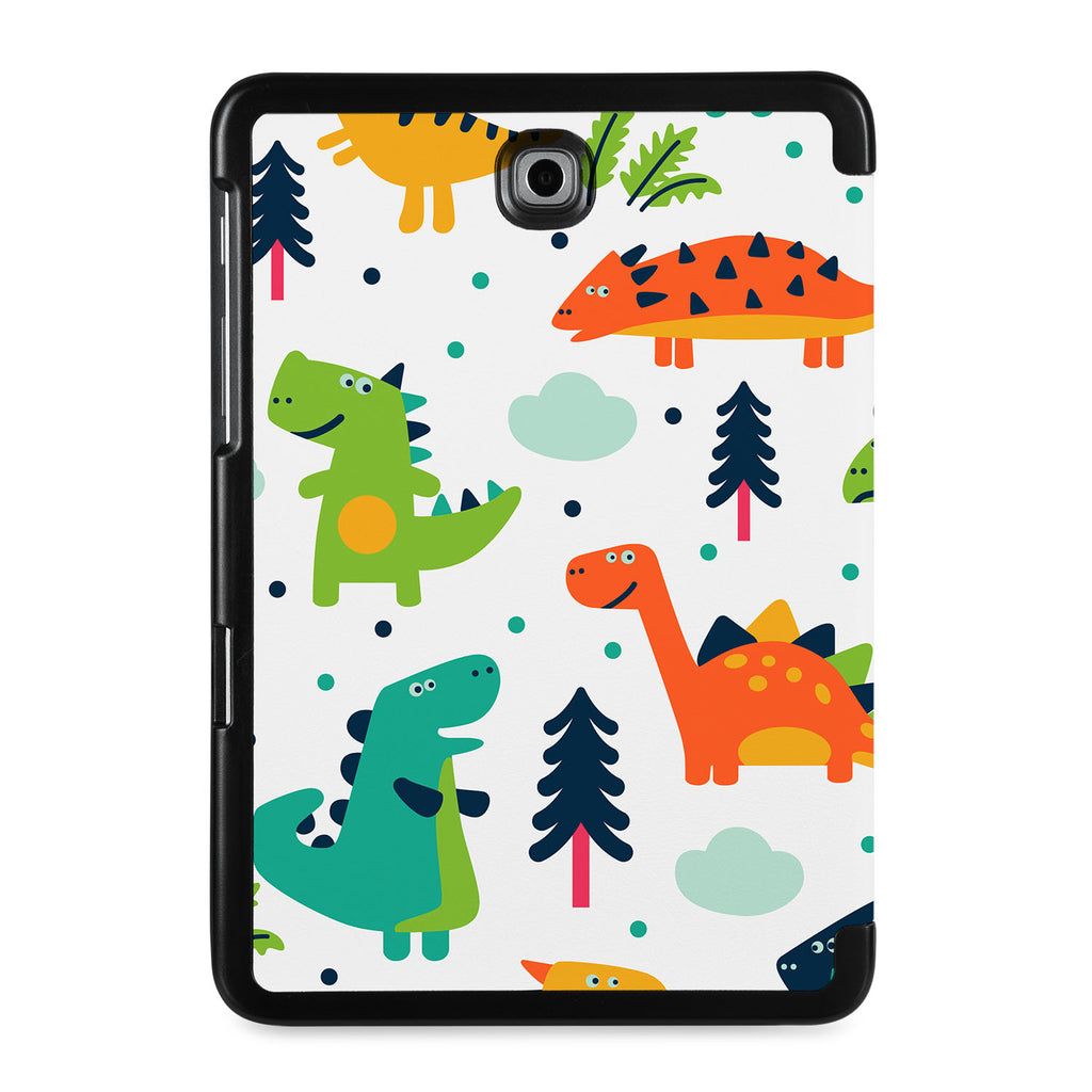 the back view of Personalized Samsung Galaxy Tab Case with Dinosaur design