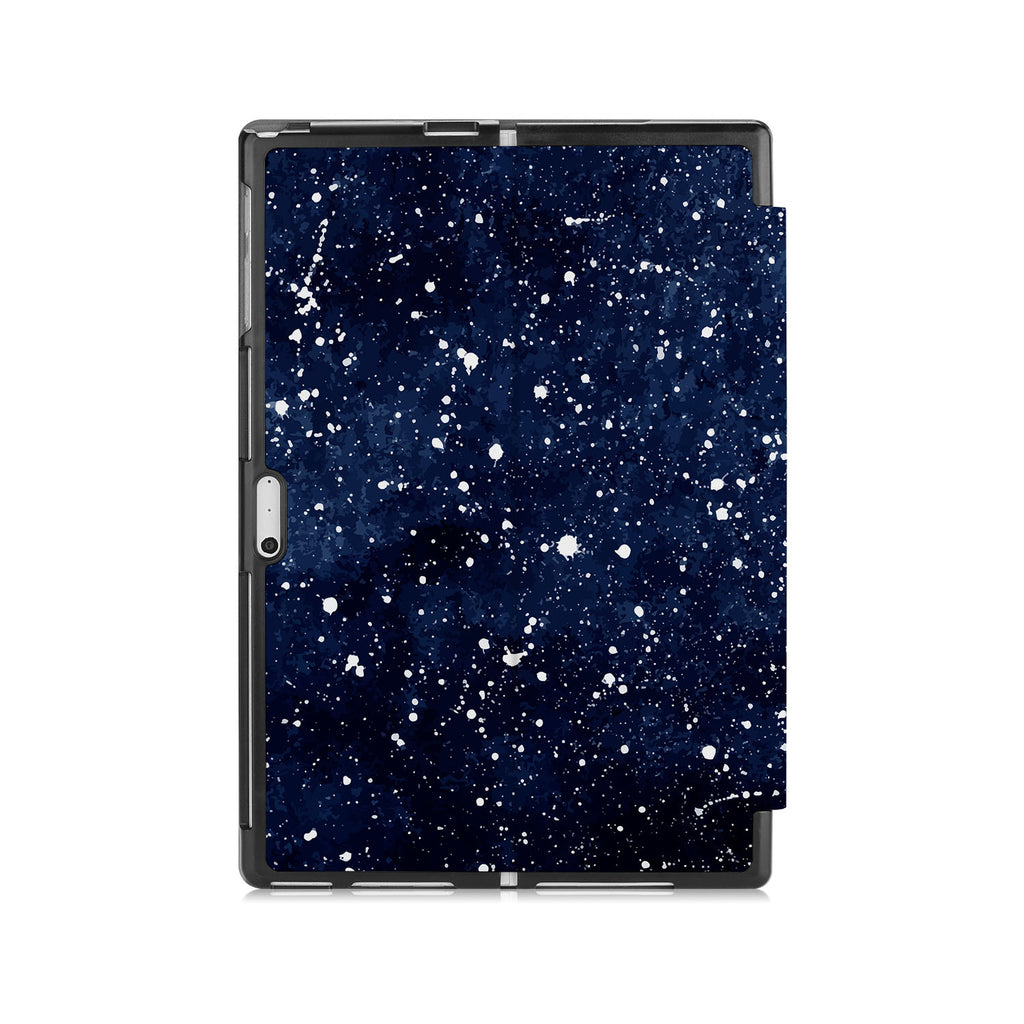 the back side of Personalized Microsoft Surface Pro and Go Case with Galaxy Universe design