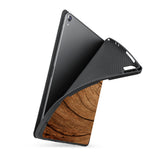 soft tpu back case with personalized iPad case with Wood design