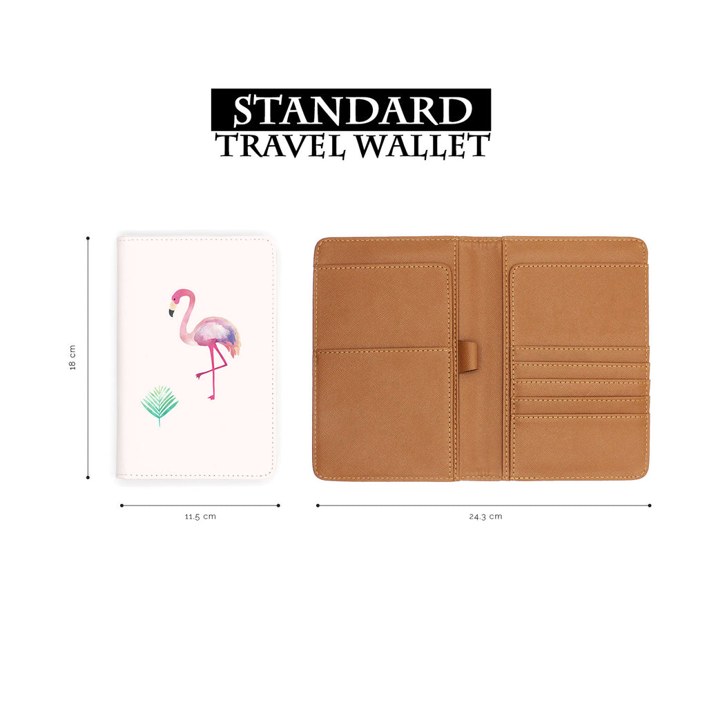 standard size of personalized RFID blocking passport travel wallet with Tropical Treasures design