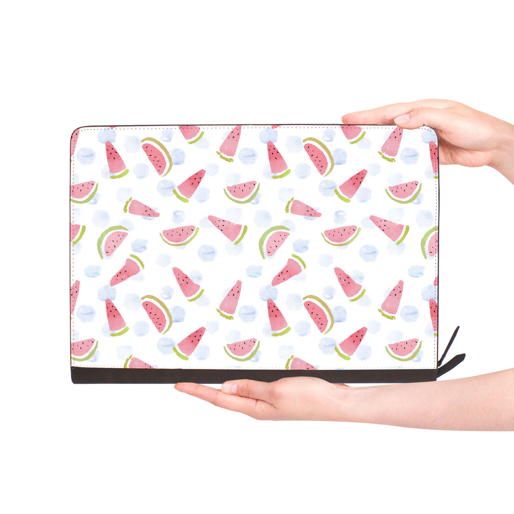 macbook air inside of personalized Macbook carry bag case with Fruit Red design