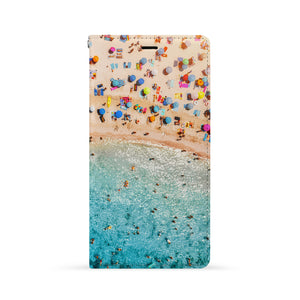 Front Side of Personalized iPhone Wallet Case with Ocean design