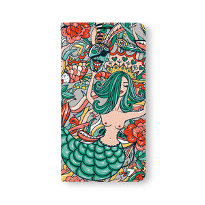 Front Side of Personalized Samsung Galaxy Wallet Case with Mermaid design