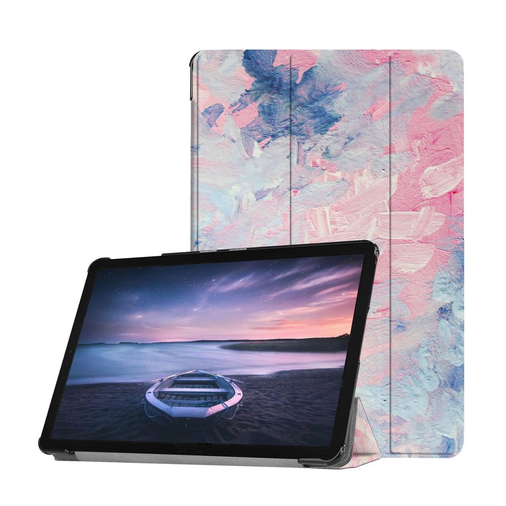 Personalized Samsung Galaxy Tab Case with Oil Painting Abstract design provides screen protection during transit