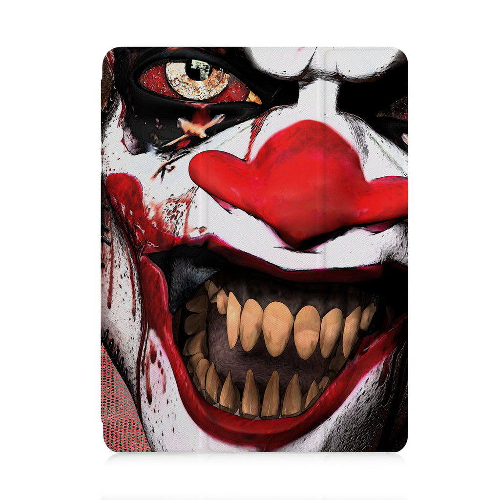 front view of personalized iPad case with pencil holder and Halloween 2 design