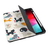 personalized iPad case with pencil holder and Animals Lover design