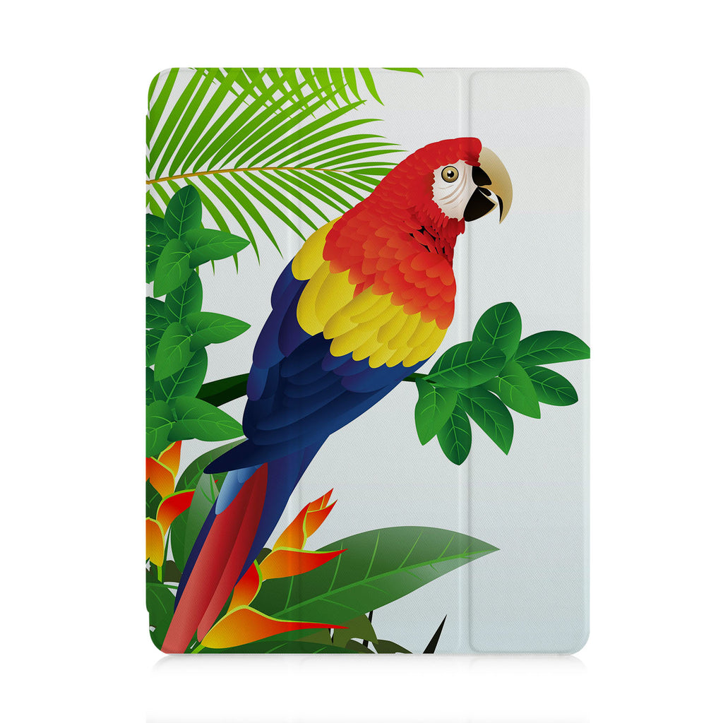 front view of personalized iPad case with pencil holder and Bird design