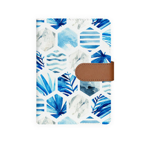 front view of personalized personal organiser with Geometric Flower design