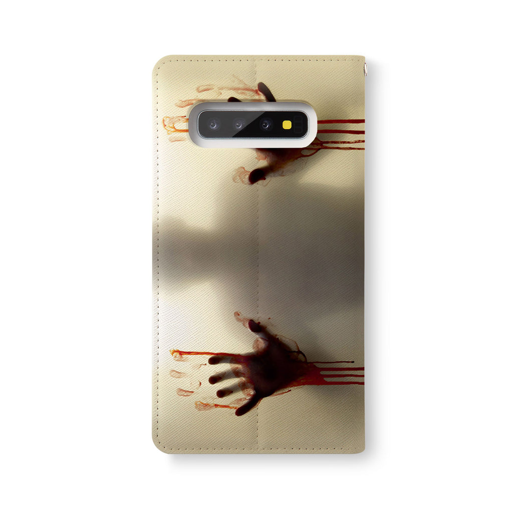Back Side of Personalized Samsung Galaxy Wallet Case with Horror design - swap